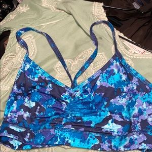 Old Navy floral blue and turquoise stretch bra